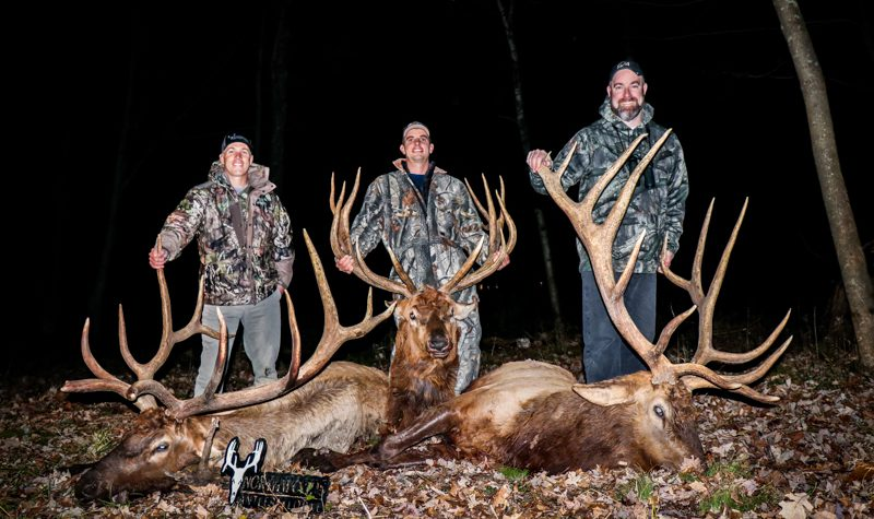 group elk hunting trip in Wisconsin