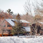 Northwoods Antler Lodge Hunting Ranch in winter.